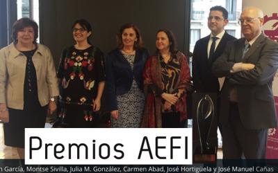 Premios AEFI  2020: a la trayectoria profesional a Maria del Carmen Abad, … Enhorabuena a todos !!  @AEFI_es