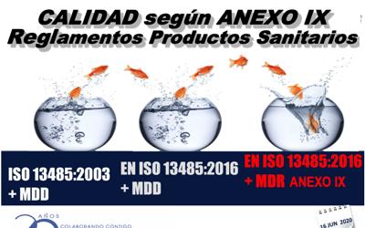 Formación webinar en directo «2003 – CALIDAD SEGUN ANEXO IX REGLAMENTOS» – 16 y 18 JUN 2020