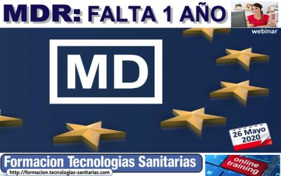 Formación «MDR: Falta 1 año» ONLINE