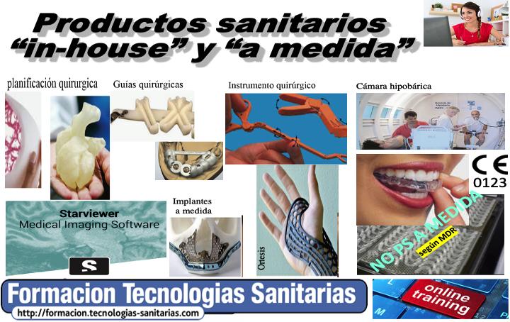 Formacion webinar en directo «C2004 PRODUCTOS SANITARIOS IN-HOUSE Y A MEDIDA» 15 y 17 sept 2020 by @tecno_med