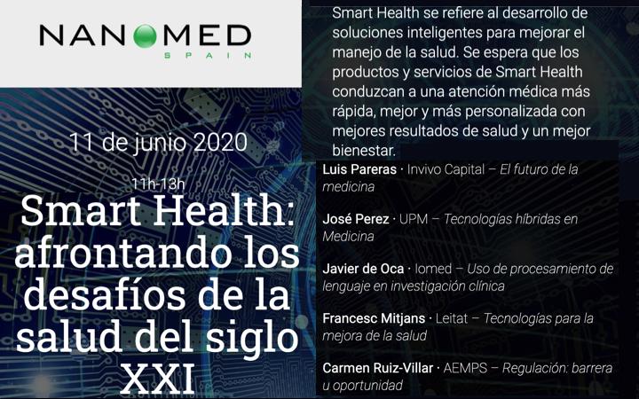 Exito Jornada 'Smart Health: afrontando los desafíos de la salud del siglo XXI' por @NanomedSpain , Plataforma Innovación TS  ( @FENIN_es ) – con @CArmenR_V ( @AEMPSgob )