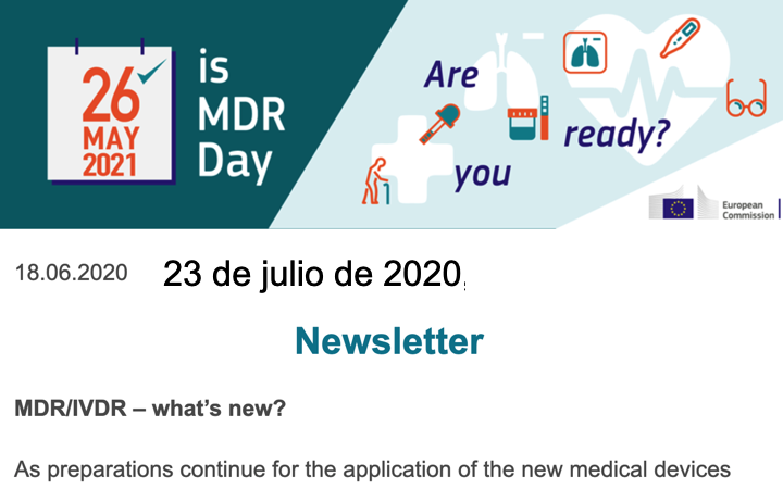 Newsletter Campaña MDR Comision Europea ….
