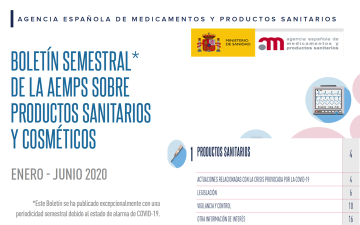 Boletin @AEMPSgob de Productos Sanitarios – jun 2020