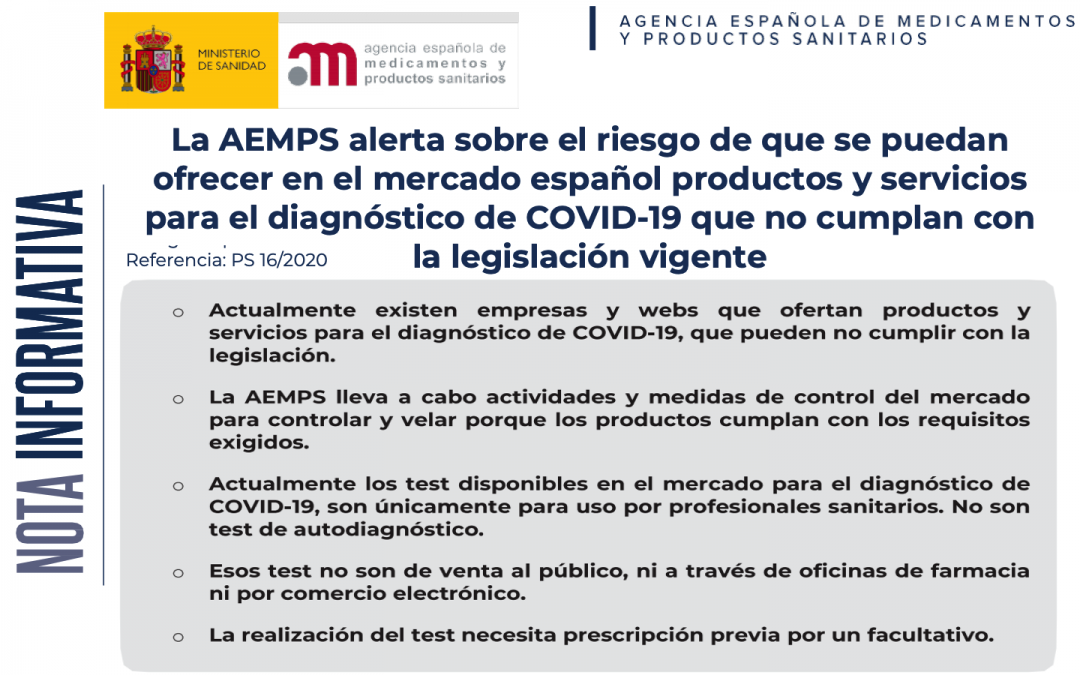 #COVID19 FAQ regulatorias – Kit autodiagnóstico IVD – CUIDADO CON LAS FALSIFICACIONES