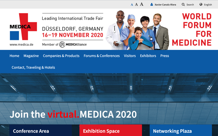 MEDICA 2020 @MEDICAtradefair pasa a virtual.MEDICA 16 a 19 Nov 2020