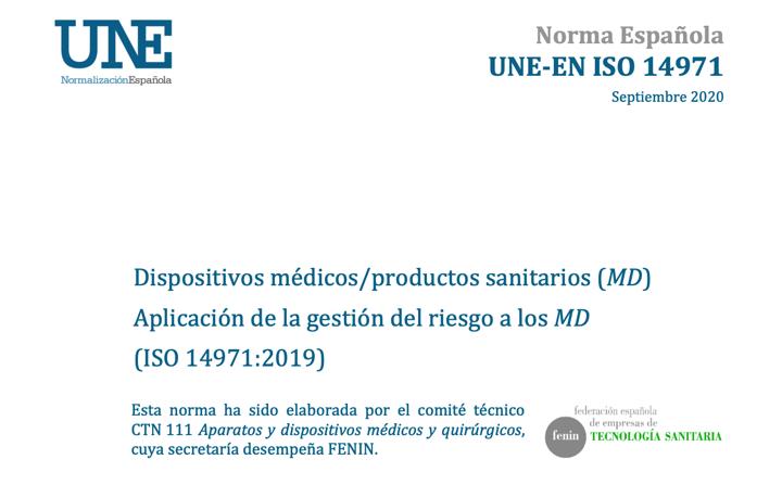 Publicada la nueva edición de la norma  UNE EN ISO 14971:2020 by @AENOR