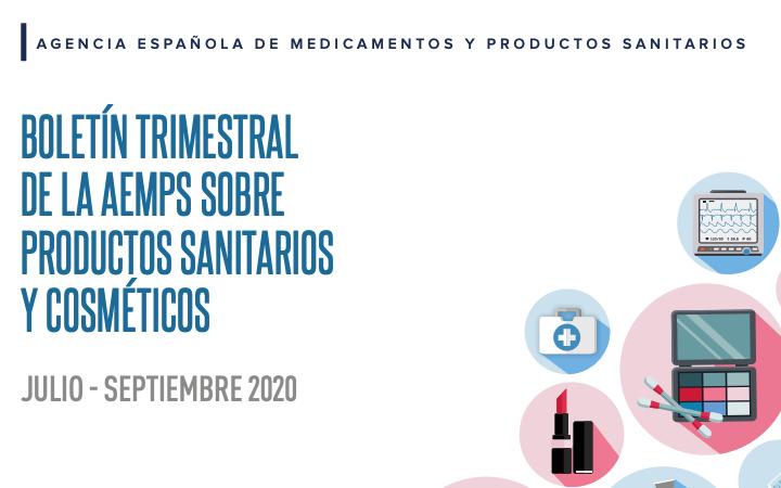 Boletin @AEMPSgob 3T 2020 de productos sanitarios y cosméticos