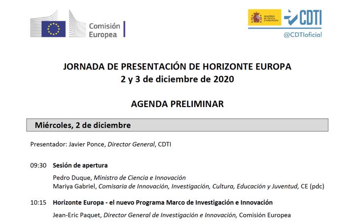 Jornada Horizonte Europa 2021-27 para proyectos innovadores by @CDTIoficial
