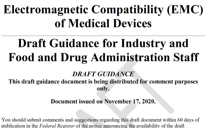 Nueva guía FDA @FDAcdrhindustry para EMC compatibilidad electromagnética de equipos electromedicos