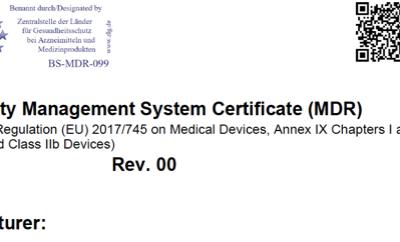 @TUVSUD emite certificado con el reglamento MDR a familias productos dentales