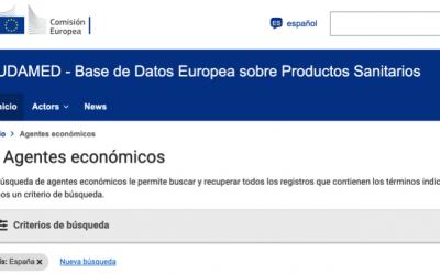 Sigue el registro de actores en EUDAMED @EU_Health de actores españoles validados por la @AEMPSgob