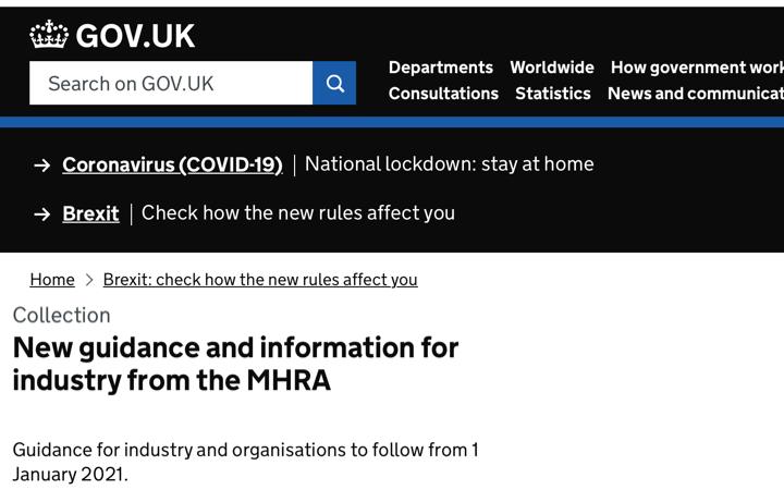 BREXIT – La @MHRAdevices publica nuevas guías con los requisitos UK para los productos sanitarios a partir de 1 de Enero de 2021