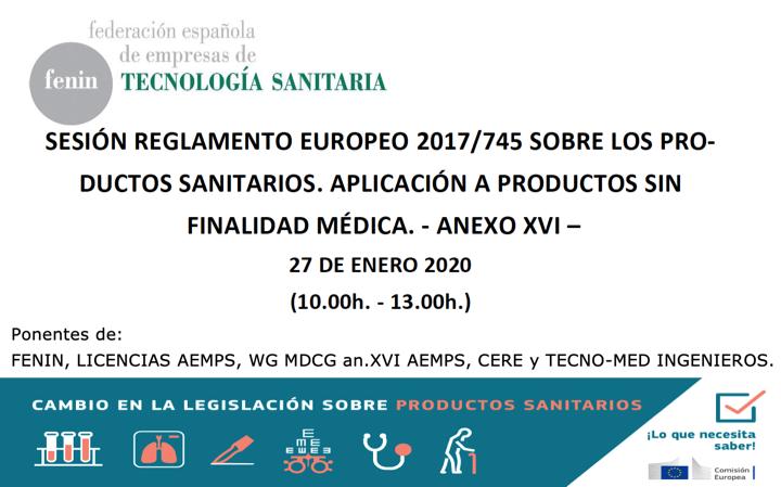 Actualización programa: Webinar productos sanitarios anexo XVI by @FENIN_es  con @AEMPSgob, ON0318, CERE y @tecno_med