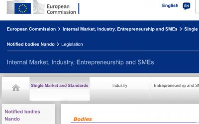 Organismos Notificados MDR (22): Eurofins Product Testing Italy (Italia) ON num. 0477 nuevo ON. Enhorabuena!!!