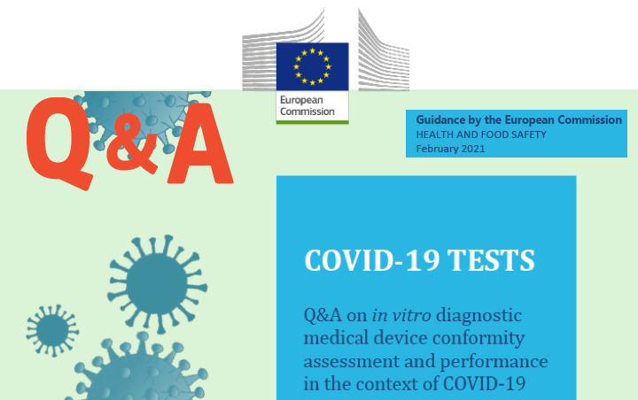 #COVID19 FAQ regulatorias – La Comision publica su preguntas y respuestas de los tests COVID-19 y una base de datos de tests IVD