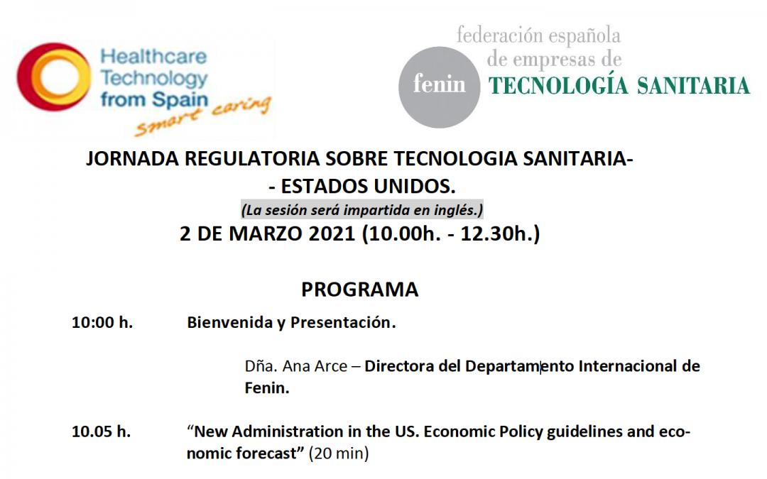 Jornada «Regulacion productos sanitarios FDA» by @FENIN_es 2 marzo 2021 – 10h-12h30