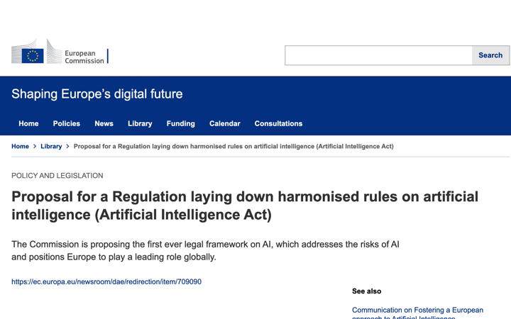 La Comisión Europea publica una propuesta de reglamento para la regulación de los métodos de Inteligencia Artificial que incluye software médico