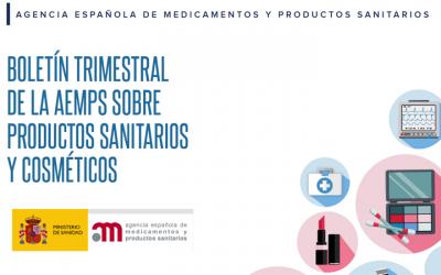 Boletin @AEMPSgob 2T 2021 de productos sanitarios y cosméticos