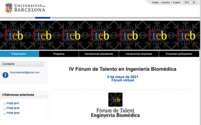 Jornada «Forum de talento en Ingenieria Biomedica» 5 Mayo 2021 by @FENIN_es @HT_Cluster @UniBarcelona @la_UPC @UPFabra