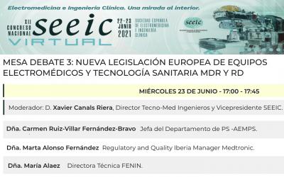Congreso SEEIC virtual 22-23 Jun 2021 @SEEIC_spain – no te pierdas la mesa 3 del nuevo Reglamento y Real Decreto con @AEMPSgob, @FENIN_es, @MedtronicES y el vicepresidente @XCanals