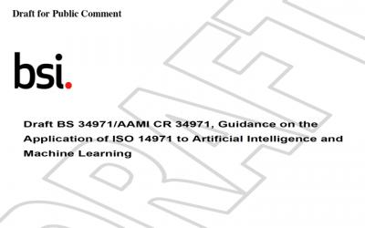 Nuevo borrador de la BS/AAMI 34971 Guia de aplicación de la ISO 14971 de gestión de riesgos a la Inteligencia artificial