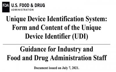 Nueva guía FDA @FDAcdrhindustry para UDI