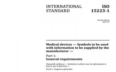 Publicada la nueva edición de la norma de símbolos  ISO 15223-1:2021